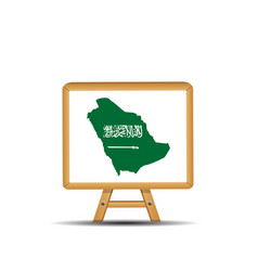green country map saudi arabia with a sword vector image
