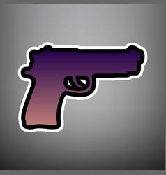 gun sign violet gradient vector image