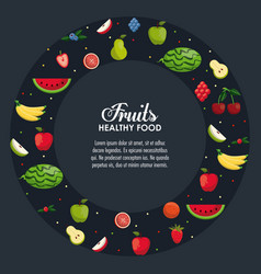 healthy food infographic vector image