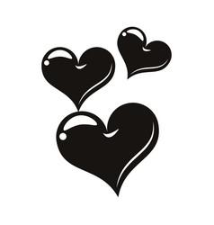 Hearts love tattoo art icons vector