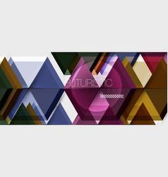 hexagon business presentation or brochure vector image