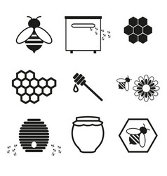 honey online icons vector image