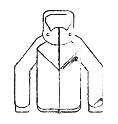 Isolated jacket of winter cloth design vector