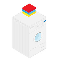 isometric washing machine vector image