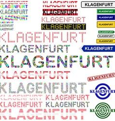 Klagenfurt text design set vector
