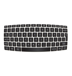 Laptop keyboard modern sphere concept vector