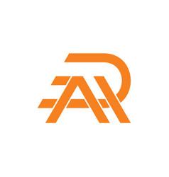 Letter ar linked line geometric logo vector