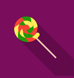 lollipop icon in flat style isolated on white vector image