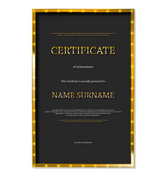 Luxury certificate or diploma template vector