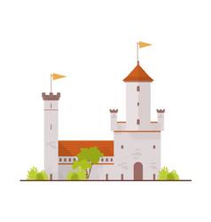 Medieval fortress fairytale castle citadel vector