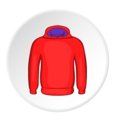 Men winter sweatshirt icon cartoon style vector