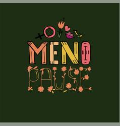menopause headline image vector image