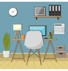 modern workplace in room Creative vector image