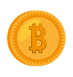 money bitcoin golden icon vector image