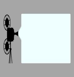 Movie cine projector background vector
