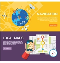 Navigation and traveling Map pointer location vector