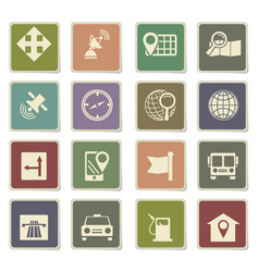 Navigation icon set vector
