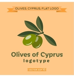 Olives cyprus logo vector