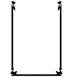 page border a4 design for project vector image