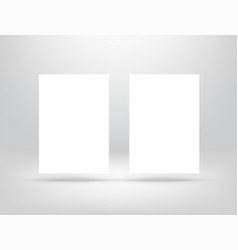 paper card on white wall vector image