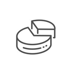 pie chart line icon presentation 3d graph sign vector image