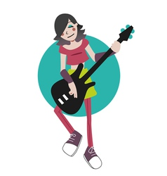 Playing bass vector image