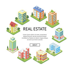 Real estate company advertising template vector