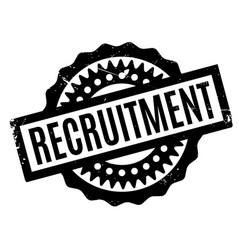 Recruitment rubber stamp vector