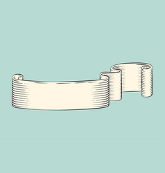 ribbon monochrome sketch icon vector image