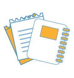 Rings notebook tool with loose paper vector