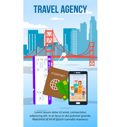 san francisco cityscape flat flyer with text space vector image