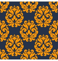 Seamless damask foliage tracery vector image