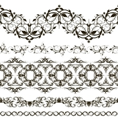 Set of horizontal lace pattern decorative vector