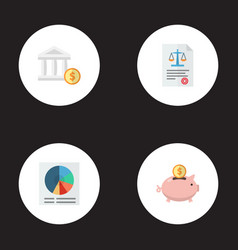 set of registration icons flat style symbols with vector image