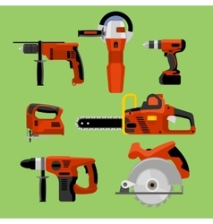 Set Power Tools vector