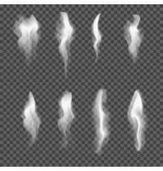 Set transparent realistic white grey vector