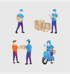 shipping courier vector image
