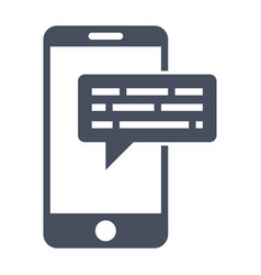 Smartphone sms icon vector