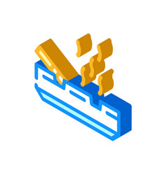 Smoking smell isometric icon vector