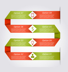 Snake infographic template vector image