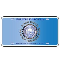 South dakota license plate flag vector