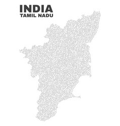 tamil nadu state map of dots vector image