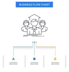 team business teamwork group meeting business vector image