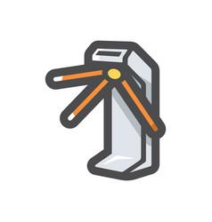 Turnstile security equipment icon cartoon vector