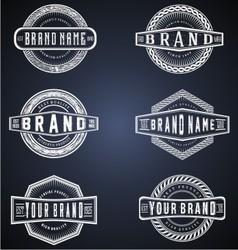 vintage brand labels vector image