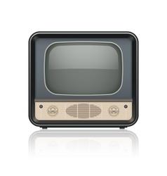 Vintage retro tv set icon vector