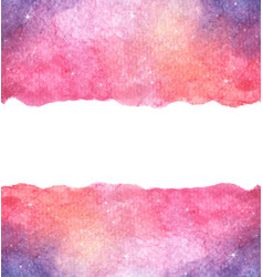 Watercolor colorful starry space galaxy nebula bac vector