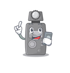 With phone light meter character shape mascot vector