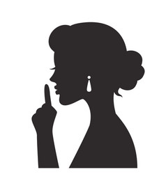 woman gestures for silence vector image