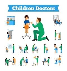 Children Doctor Set vector image